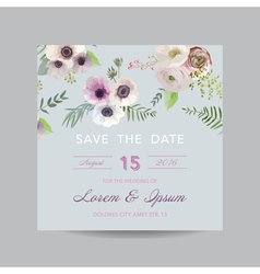 Invitation or Greeting Card - for Wedding vector image