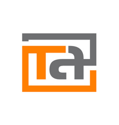 Letter t a vector