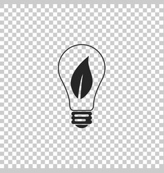light bulb with leaf icon isolated vector image