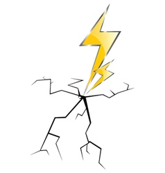 lightning and cracks vector image