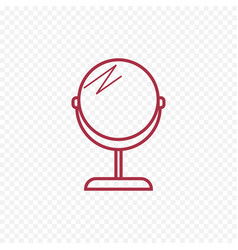 Make up mirror thin line icon vector