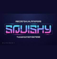 modern technology alphabet creative vector image