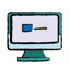Monitor computer screen page web vector