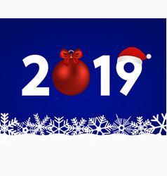 new year 2019 on a blue background vector image