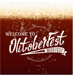 Oktoberfest beer festival freshening beer vector
