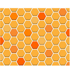 orange honeycomb pattern seamless on white vector image