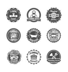 Plumbing service labels vector