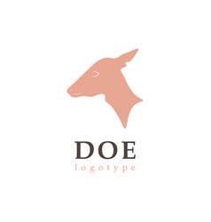 Profile silhouette doe vector