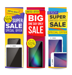 sale banner set place for your product vector image