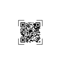 scan qr code symbol app electronic digital vector image