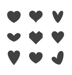 Set heart icons vector