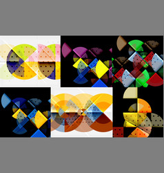 set of circle backgrounds vector image