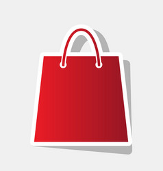 shopping bag new year vector image