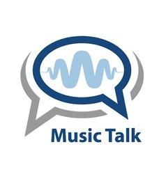 Speech bubble music wave talk icon vector