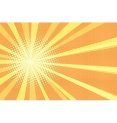 Sunrise pop art retro background vector