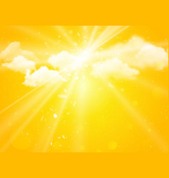 sunshine sky abstract summer background vector image