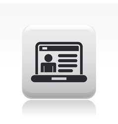 Web account icon vector