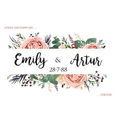 Wedding invite invitation save the date card vector