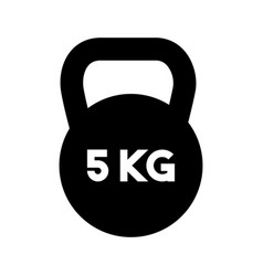 Weight lifting dumbbell isolated icon vector