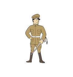 World War One British Officer Sword Standing vector