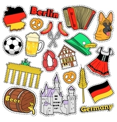 Germany Travel Scrapbook Stickers Patches Badges vector image vector image