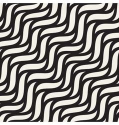 Seamless Hand Drawn Diagonal Wavy Shapes vector image