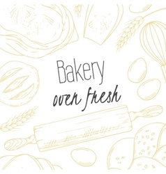 Bakery sketched in vector image vector image