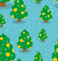 Christmas tree with balls seamless pattern Winter vector image vector image