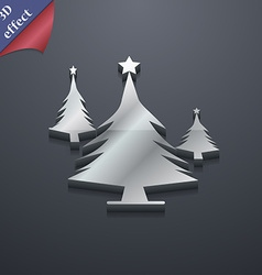 coniferous forest tree fir-tree icon symbol 3D vector image