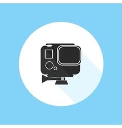 Gopro Hero HD Action Camera Pro Sport Silhouette vector image vector image