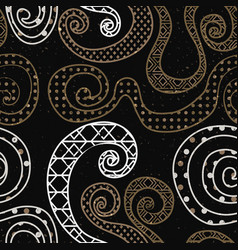 vintage curve pattern with grunge effect vector image