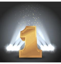 Winner Number One With Backlight Illumination vector image