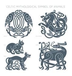 ancient celtic mythological symbol of animals vector image vector image