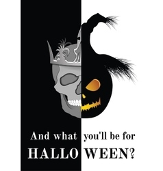 And what you will be for Halloween vector image vector image
