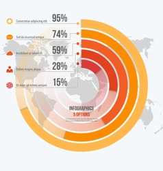 circle informative infographics 5 options vector image