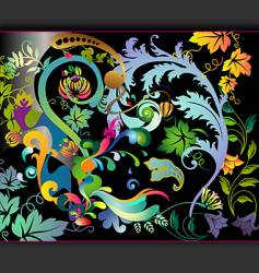 hallucinogenic garden vector image vector image