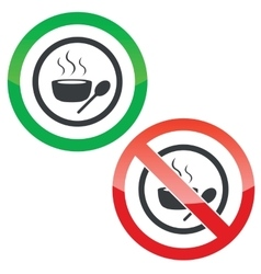 Hot soup permission signs vector image