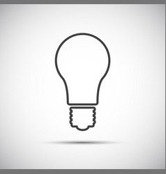 light bulb line icon isolated on white background vector image vector image