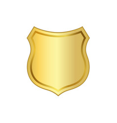 shield gold icon shape emblem vector image vector image