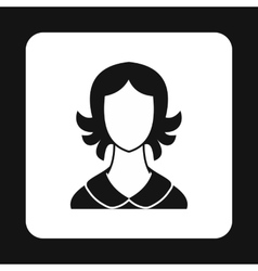 Woman with short hair avatar icon simple style vector image vector image