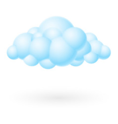 bubble cloud icon on white background for design vector image vector image