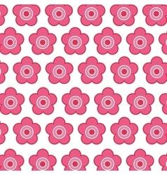 Cute japanese flower icon vector
