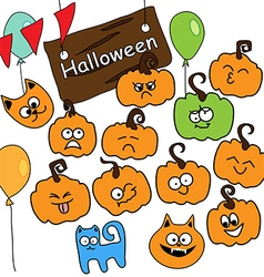 funny icons Halloween vector image vector image
