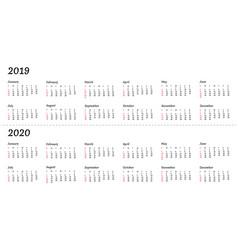 2019 2020 calendar year - the vector