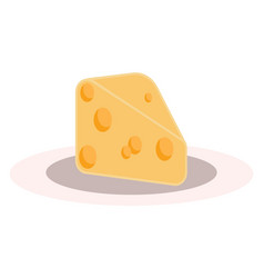 a plate with a portion cheese to be enjoyed vector image