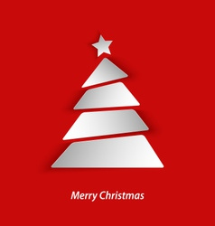 Abstract Christmas card with tree vector image