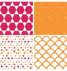 Abstract colorful stripes and shapes set of vector