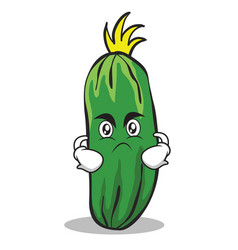 Angry cucumber character cartoon collection vector