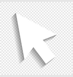 arrow sign white icon with vector image