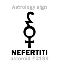 astrology asteroid nefertiti vector image